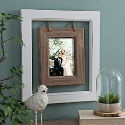Hanging Rope Windowpane Picture Frame