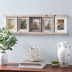 Distressed Wooden Ladder Collage Frame