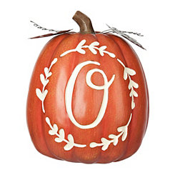 Carved Orange Monogram O Pumpkin