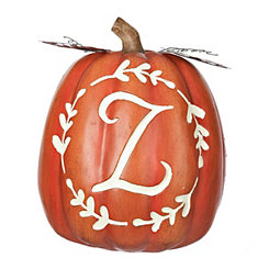 Carved Orange Monogram Z Pumpkin