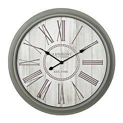 Gray and Cream Shiplap Wall Clock