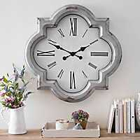 Julie Vintage Gray Wall Clock