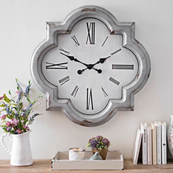 Julie Vintage Gray Wall Clock