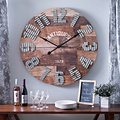 Emma Rustic Wall Clock