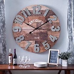 Emma Rustic Wall Clock