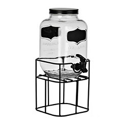 Black Chalkboard Beverage Dispenser