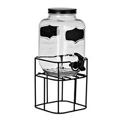 Black Chalkboard Beverage Dispenser