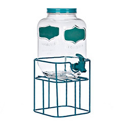Turquoise Chalkboard Beverage Dispenser