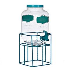 Turquoise Chalkboard Beverage Dispenser