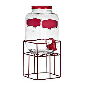 Red Chalkboard Beverage Dispenser