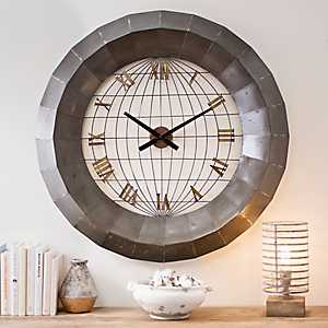 Stacy Metal Cage Dome Wall Clock