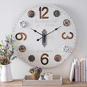 Alice Metal Door Knob Wall Clock