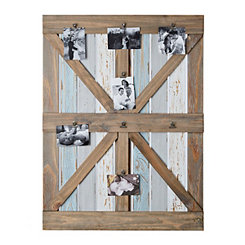 Distressed Barn Door Clip Collage Frame