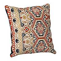 Ivory and Rust Gramercy Pillow