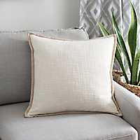 Natural Trim Ivory Pillow