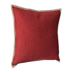 Natural Trim Rust Pillow