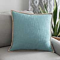 Natural Trim Blue Pillow