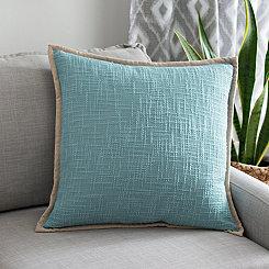 Natural Trim Blue Pillow