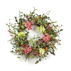 Pear, Hydrangea, and Berry Wreath, 26 in.