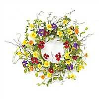 Summer Garden Trumpet Wreath