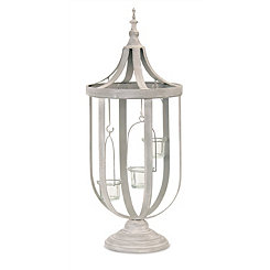Gray Cage Tealight Lantern