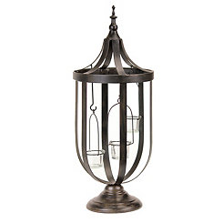 Bronze Cage Tealight Lantern, 22 in.