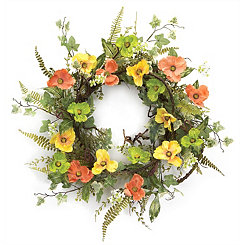 Poppy and Ivy Wreath