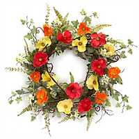 Summer Poppy and Ivy Wreath