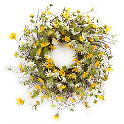 Daisy Mix Wreath