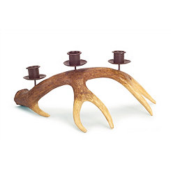 Tapered Antler Votive Candle Holders, Set of 2