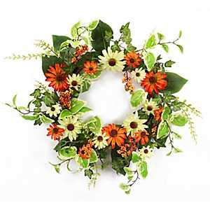 Orange Black Eyed Susan Wreath