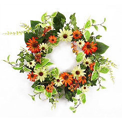 Orange Black Eyed Susan Wreath