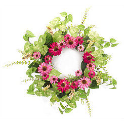 Pink Black Eyed Susan Wreath