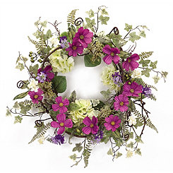 Purple Cosmos Wreath