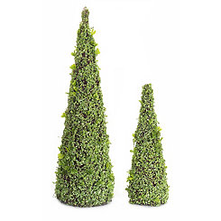 Leaves Cone Topiary, Set of 2