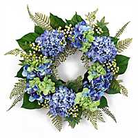 Blue Hydrangea Mix Wreath