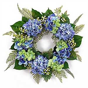 Blue Hydrangea Mix Wreath