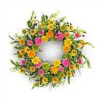 Bright Zinnia Mix Wreath
