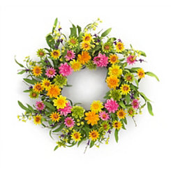 Bright Zinnia Mix Wreath