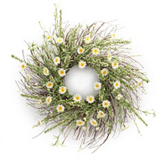 Daisy and Heather Mix Wreath