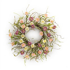Pink and Purple Mini Ranunculus Wreath