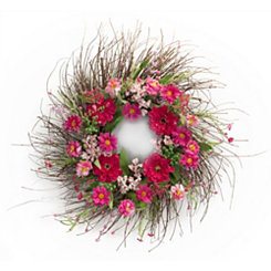 Pink and Red Floral Mix Wreath
