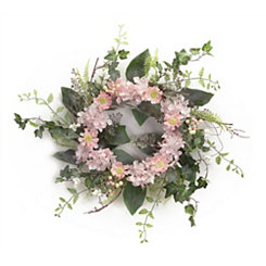 Pink Cosmos Wreath