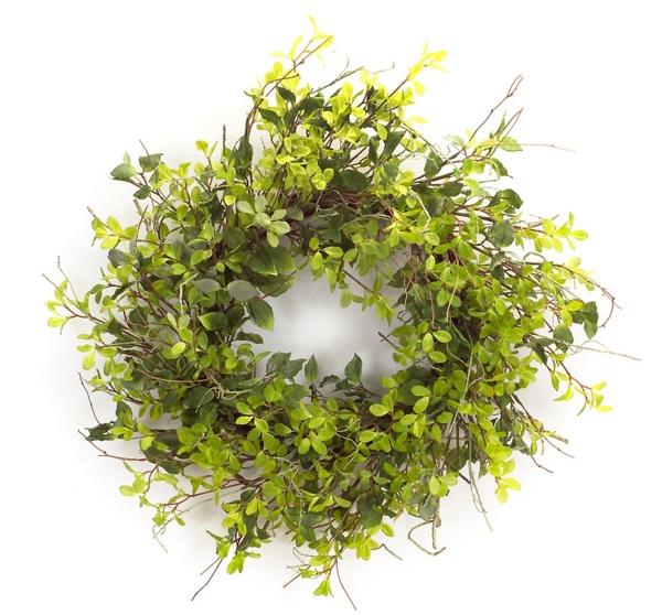 green foliage mix wreath