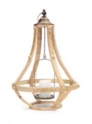 Honey Wood Cage Lantern