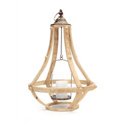 Honey Wood Cage Lantern