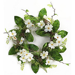 Dogwood and Fern Mix Wreath