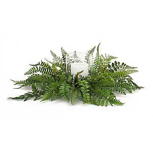 Fern Mix Floral Candle Holder