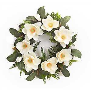 White Magnolia Mix Wreath