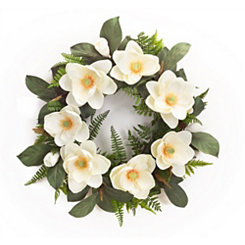 White Magnolia Mix Wreath